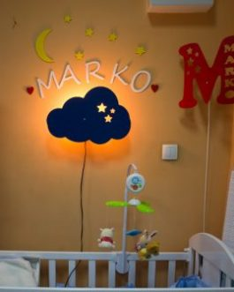 Krevetac Mali Drugari + dušek + lampa Kreativno nebo
